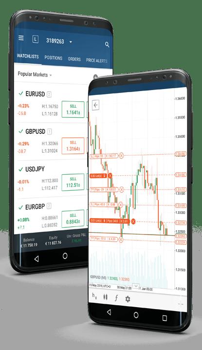 Ctrader app on mobile screenshots